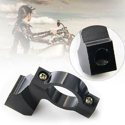 Motorcycle Bike 21mm To 23mm HandleBar Mirror Fixed Mount Clamp Adaptor Black TB