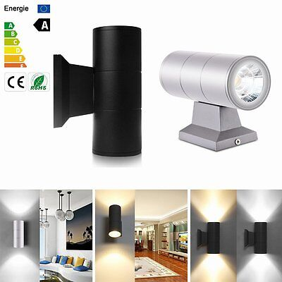 10W Wall Mount Lamp Outdoor Patio Porch COB LED Sconce Light Fixture Waterproof