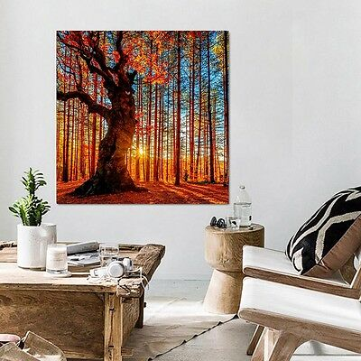 Art Modern Abstract Painting Canvas Leaves Print Wall Hangings Decor NO Frame