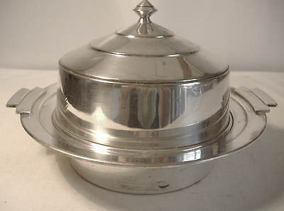 Art Deco Style Silver Plated Muffin Dish By Harrison Bros. & Howson