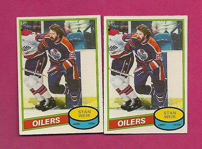 2 X 1980-81 Opc # 153 Oilers Stan Weir Ex-Mt Card (Inv#5967)