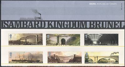 GB 2006 Brunel/Bridges/Steam/Trains/Ship/Transport/Railway/People 6v Pack n43205