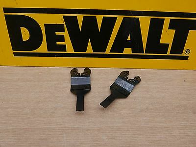 2 X Unpackaged Dewalt Dt20706 Narrow Detail Blades For Oscillating Multi Tool