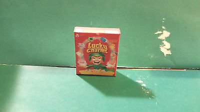 Barbie 1:6 Kitchen Food Miniature Handmade Box of Cereal Lucky Charms