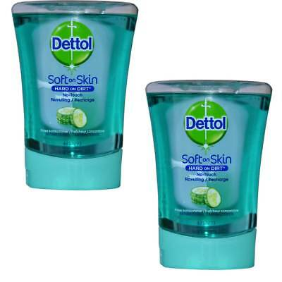 2x Dettol Hard On Dirt RICARICA PER NO-TOUCH Dosatore di sapone, 250ml