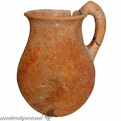Superb Roman Terracotta Wine Jug Circa 100-300 Ad