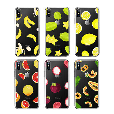 Thin TPU Skin Soft Back Fruit Pattern Apple Case Cover For iPhone 5 SE 6s 7 Plus