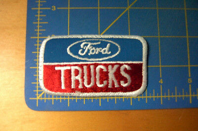 Ford Trucks Vintage White Letters Embroidered Patch