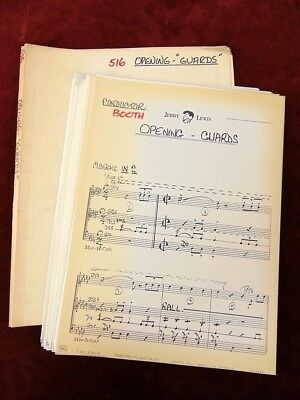"Jerry Lewis Show 1967 TV Music Manuscript Score OPENING NUMBER ""GUARDS"""