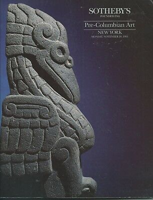 SOTHEBY'S PRE-COLUMBIAN PERU MAYA COSTA RICA MASK GOLD MEXICO ART Catalog 1991