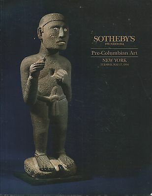 SOTHEBY'S PRE-COLUMBIAN PERU MAYA GOLD MEXICO ART Auction Catalog 1994