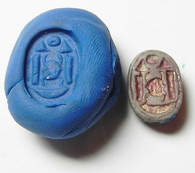 Zurqieh -52Q- Ancient Egypt, New Kingdom. Stone Scarab 1400 B.c