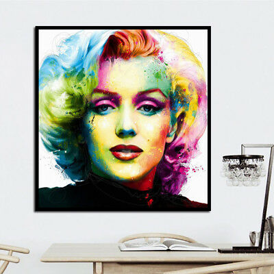 Hot Oil Painting on Canvas Print Marilyn Monroe Abstract Wall Art Decor No Frame