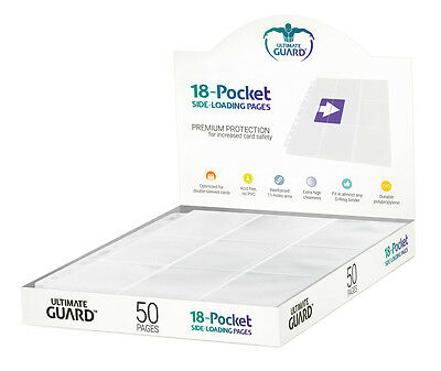 Ultimate Guard 18-Pocket Side-Loading Pages Premium Protection 50 Seiten Weiß