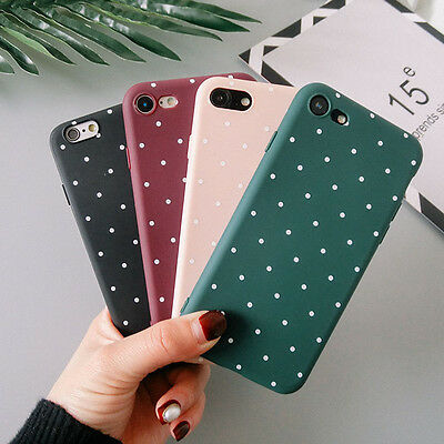 Silicone Shockproof Polka Dot Soft TPU Case Cover For IPhone 6 6s 7 7 Plus