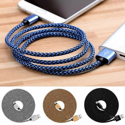 Nylon 1M 3M Strong USB C 3.1 Type-C Fast Data Sync Charger Charging Cable Lot
