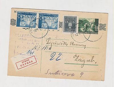CROATIA,WW II,priority postal stationery,Pozega 1943 I #