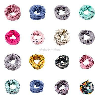 Autumn Winter Baby Boys Girls Collar Scarf Cotton Neck Scarves Neck Wrap UK