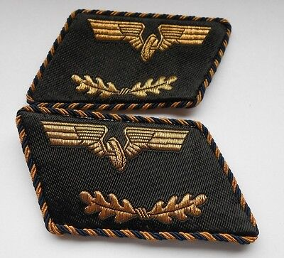pair of German railway collar patches