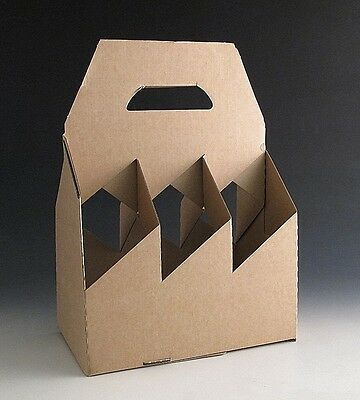 20 Cardboard Bottle Holder Carrier Gift Boxes For 6 Bottles - Wine Beer Divider