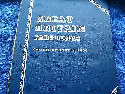 *rare*whitman Folder For Gb Bronze Farthings 1937-56 Complete 80% Lustrous Coins