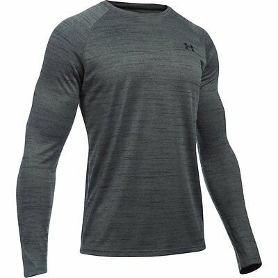 Under Armour Mens Tech Long Sleeve Patterned T Shirt | Training Gym Top Tee