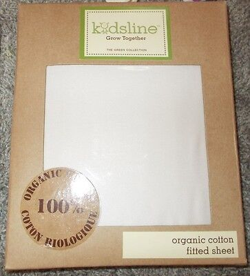 NEW NIP Crib toddler size bedding fitted sheet organic cotton Ivory