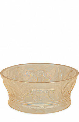 Lalique Jungle Bowl Gold Luster #10549400 Brand New In Box Tiger Large Save$ F/s