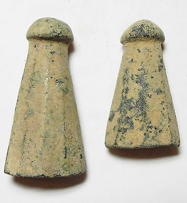 Zurqieh - Aa7401- Roman Lot Of Two Bronze Gaming Pieces?. 300 - 500 A.d