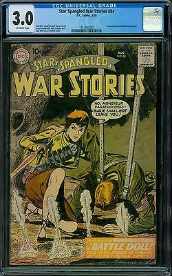 Star Spangled War Stories 84 CGC 3.0 - OW Pages - 1st Mademoiselle Marie