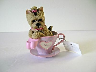 "Brimming With Personali- Tea Collection ""yorkie"" Figurine Hamilton collection"