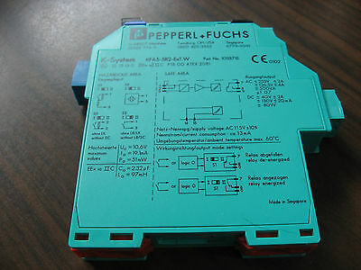 New No Box Pepperl + Fuchs KFA5-SR2-Ex1.W Safety Barrier Relay (103371S)