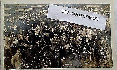 Early Rp Postcard Possibly One Of The First Tt Race Meetings At The Isle Of Man