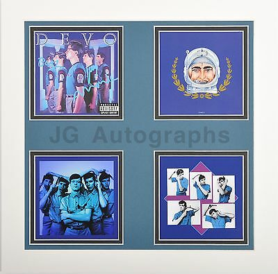 """Devo - American Rock Band - Autographed """"New Traditionalists"""" Matted Display"""