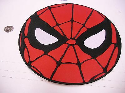 "SPIDERMAN 10"" Round Face Marvel Comics IRON/SEW ON EMBROIDERED PATCH NEW"