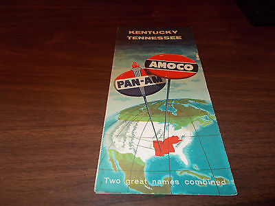 1958 Amoco/Pan Am kentucky/Tennessee Vintage Road Map