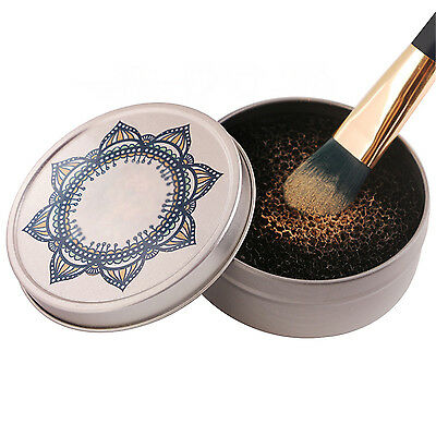 Makeup Brush Clean Eye Shadow Sponge Cleaner Tool Iron Box Switch Cosmetic CHIC