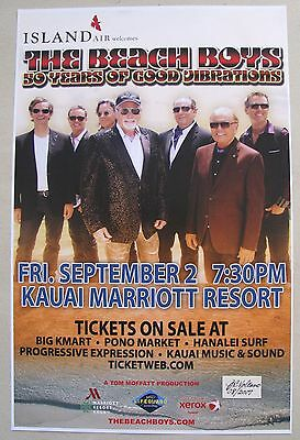 "Concert Poster for The Beach Boys ""50 Years of Good Vibrations""  in Kauai,Hawaii"