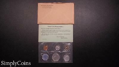 1960 Proof Set ~ Original Envelope With COA ~ US Mint Silver Coin Lot SKU-445