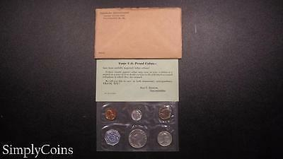 1960 Proof Set ~ Original Envelope With COA ~ US Mint Silver Coin Lot SKU-446