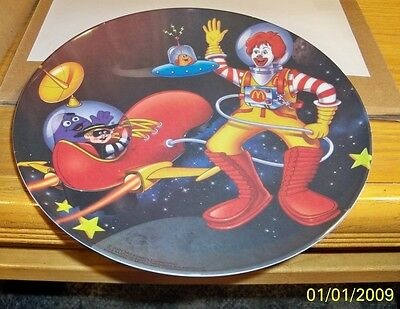 McDonalds Hard Plastic Plates, 2001, Clown In Space