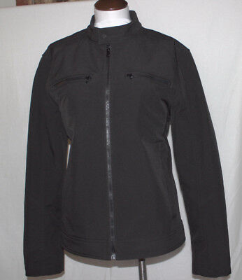NEW Wilson's Leather Soft Shell Mens Jacket Large Two Zipper Pockets