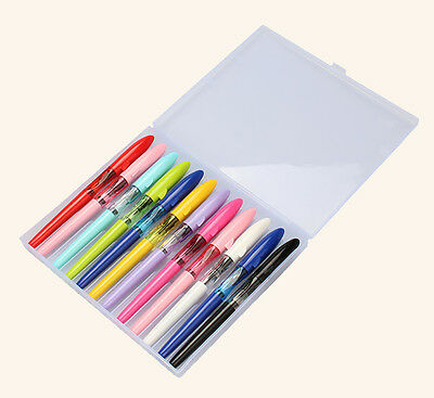 12 PCS Jinhao Shark Fountain Pen Set with Gift Box Fine Nib , 12 Colors
