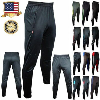 Mens Sport Athletic Soccer Fitness Training Running Casual Pants Trousers S - XL