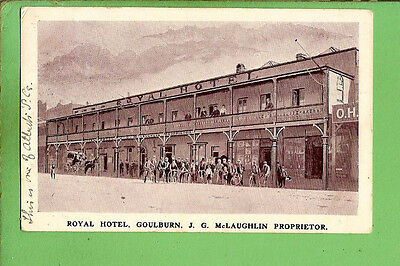 #n.  Royal  Hotel Goulburn    Postcard  - About 1900