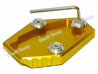 Kickstand Side Stand Enlarger Plate Gold For DUCATI Monster 795 796 821 1200 AU