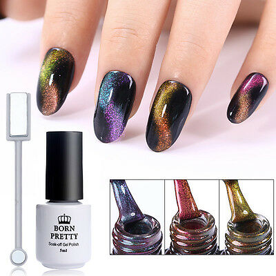5/10ml 3D Chameleon Cat Eye Soak Off UV Gel Polish with Magnet Board Born Pretty