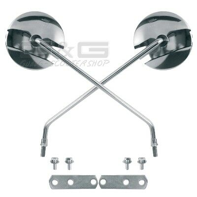 Mirror Handlebars Left & Right in chrome for cable routing LML Star Piaggio