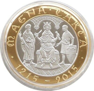 2015 Royal Mint British Magna Carta £2 Two Pound Silver Proof Coin Box Coa