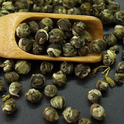Organic China high grade Jasmine Dragon Pearl Chinese GREEN TEA,jasmin tee balls